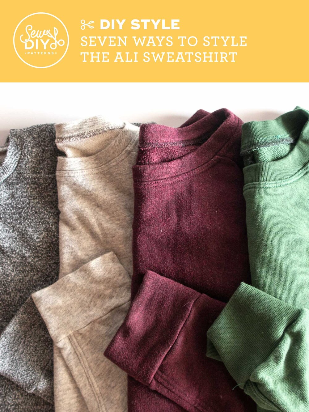 Seven ways to style the Ali Sweatshirt - Video from Sew DIY