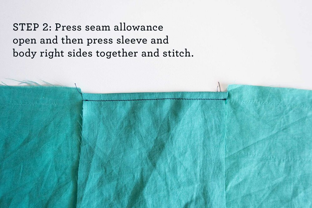 How to sew French seams for the Tasi Robe step 2
