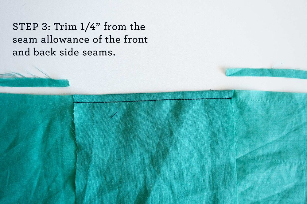 How to sew French seams for the Tasi Robe step 3