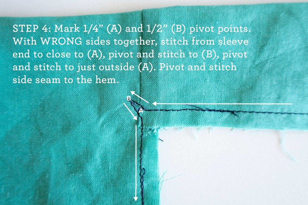 How to sew French seams for the Tasi Robe step 4