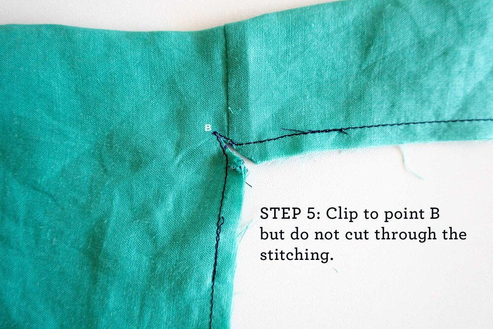 How to sew French seams for the Tasi Robe step 5