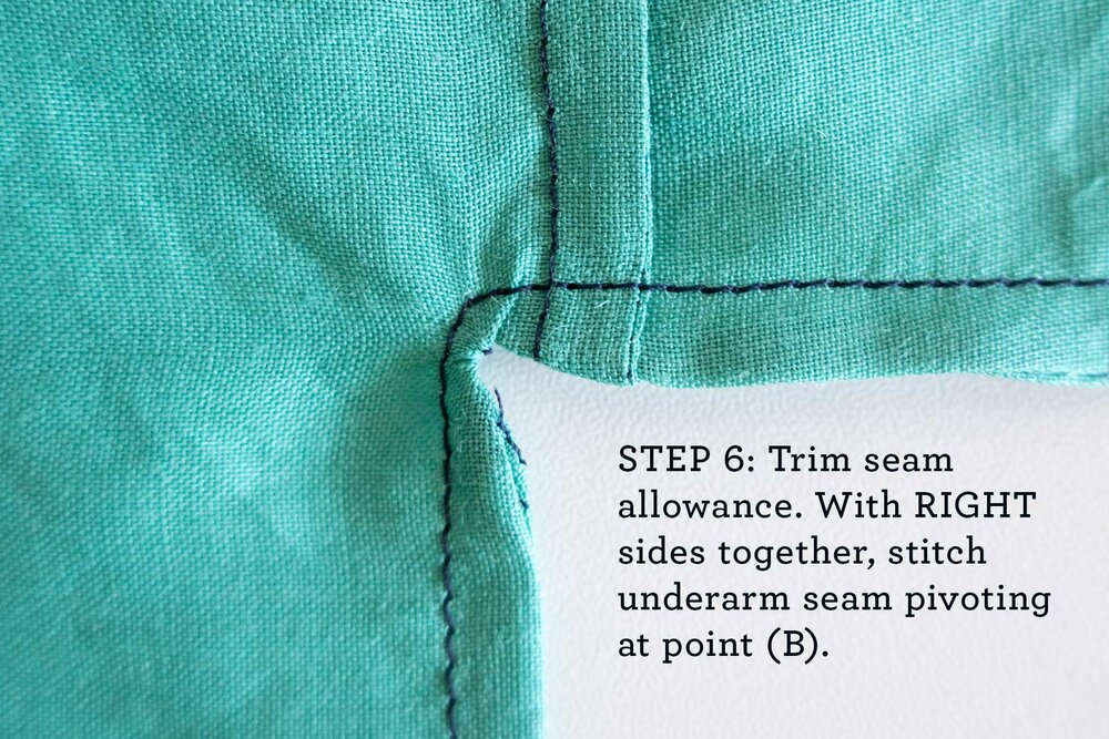 How to sew French seams for the Tasi Robe step 6