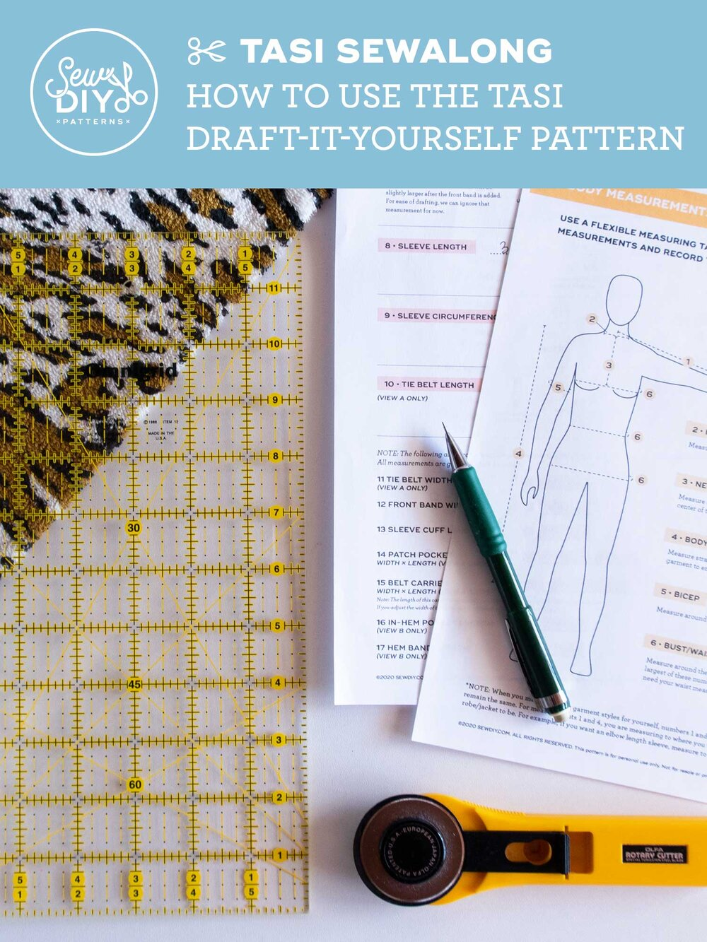 How to use the Tasi Robe and Jacket Draft-It-Yourself pattern