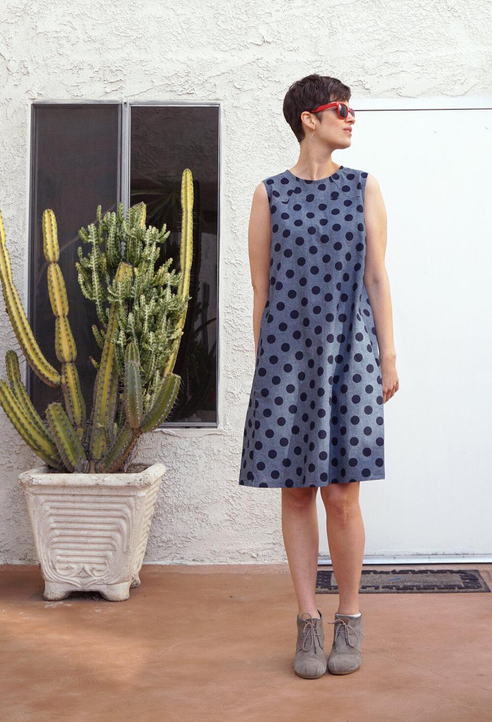 Polka Dot Rushcutter Dress