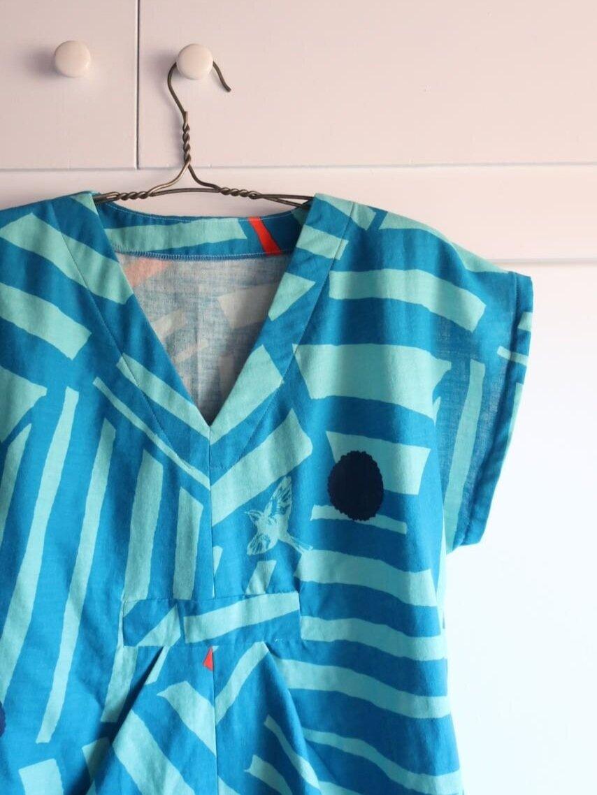 Charlie+Caftan+made+from+Nani+Iro+double+gauze+by+Sew+DIY