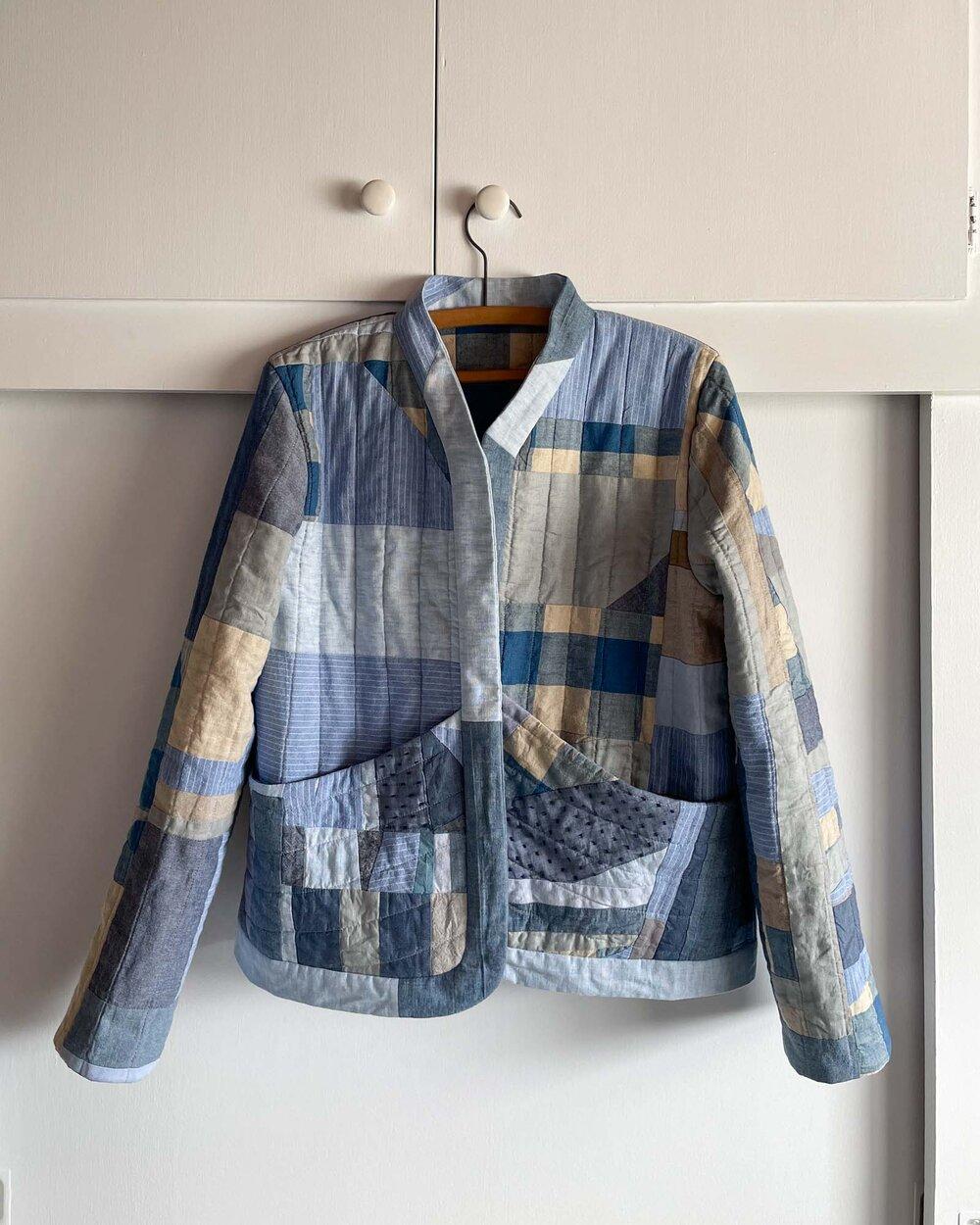 DIY Improv Quilt Coat by Sew DIY