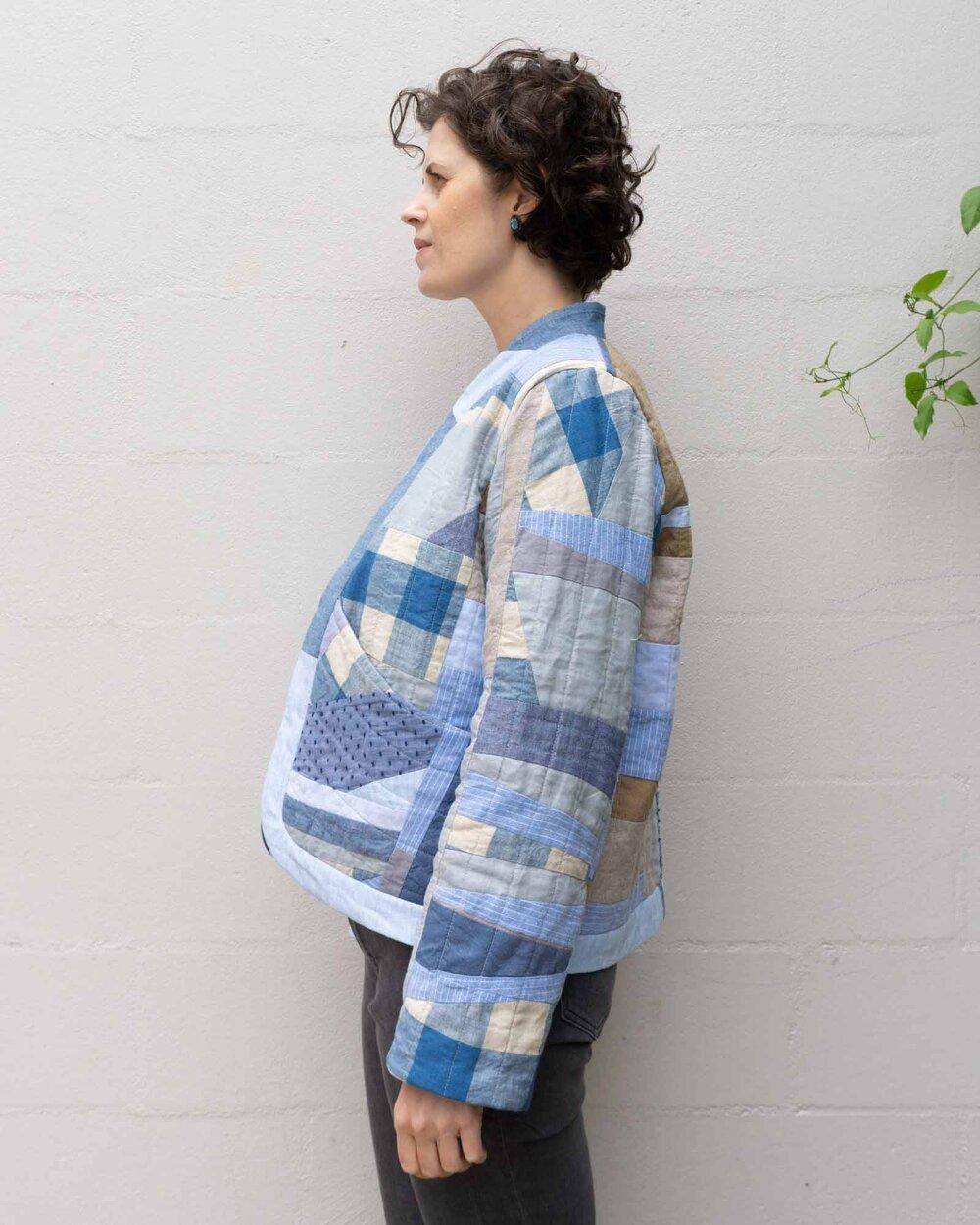 DIY Improv Quilted Coat by Sew DIY