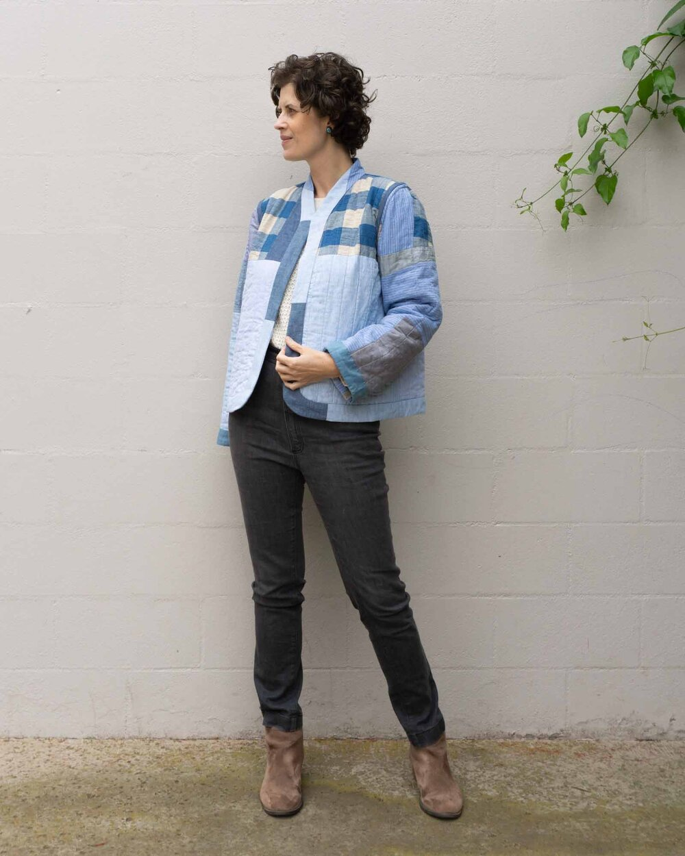 DIY Quilted Improv Jacket by Sew DIY