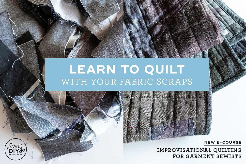 Learn how to turn your fabric scraps into improvisational quilts.