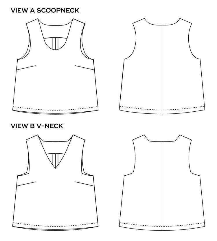 Miri Tank Top PDF Sewing Pattern by Sew DIY