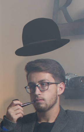 Composited top hat.