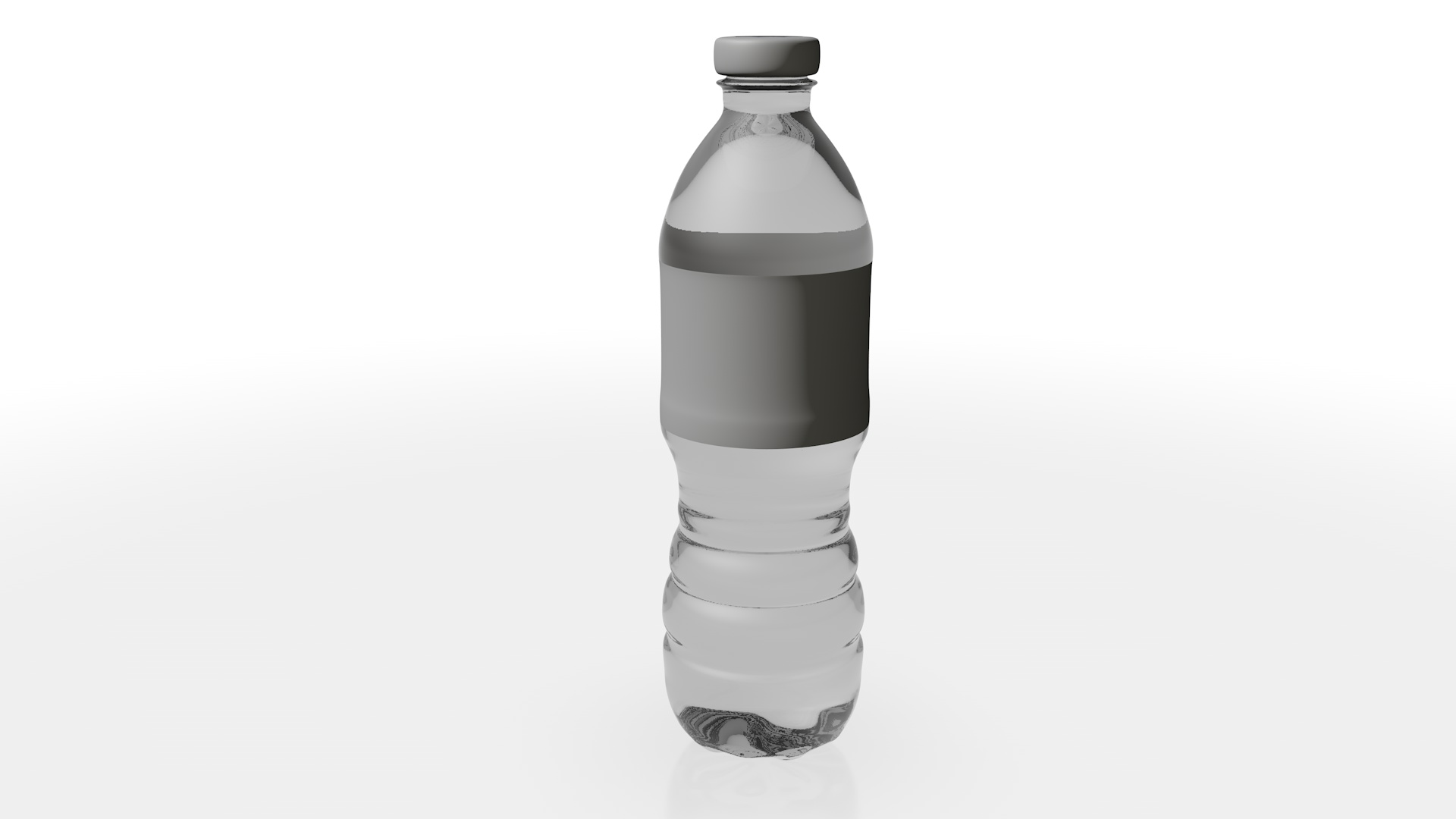 3D model of single water bottle.