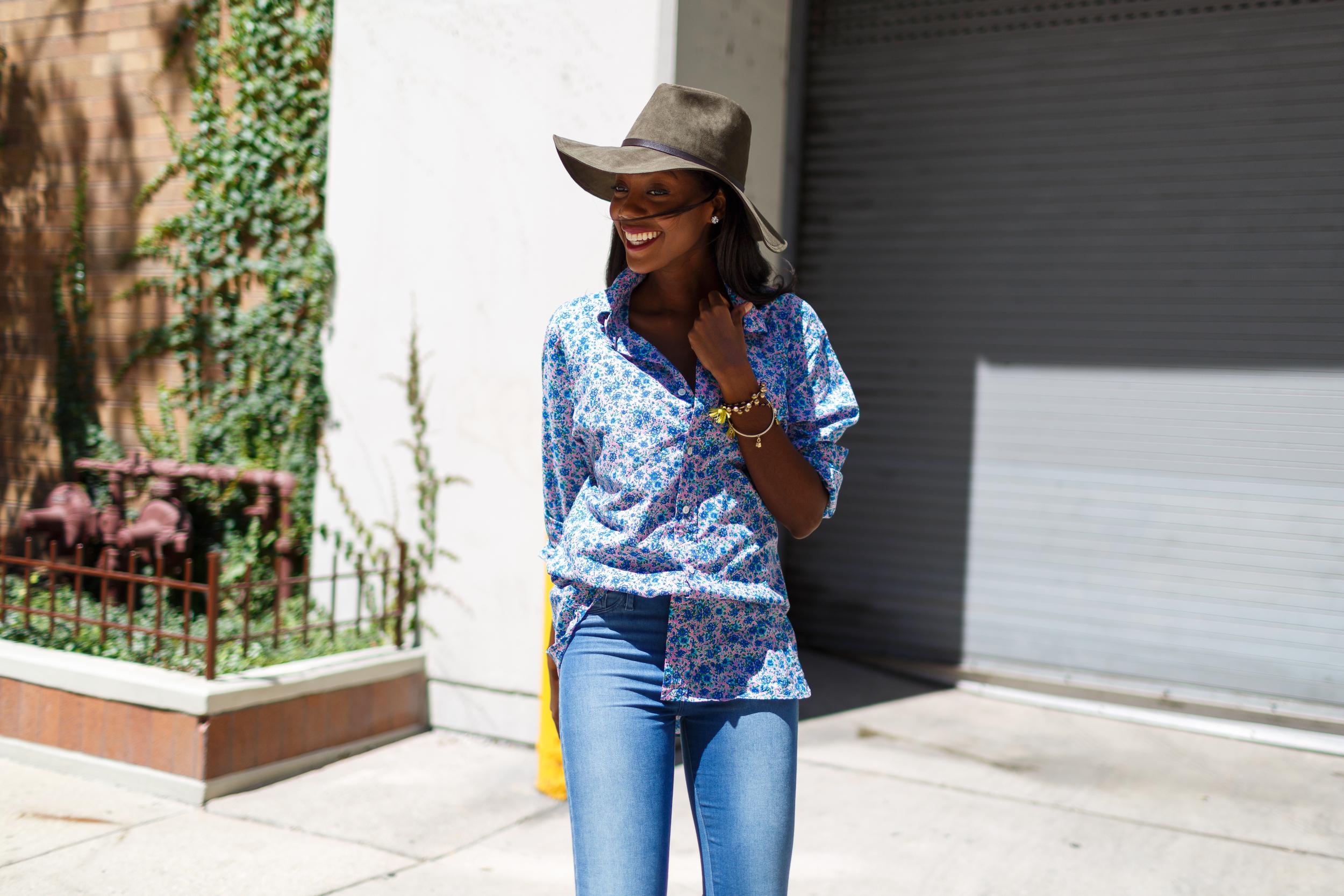 Afua Rida Styled By Rida Ghana Fashion Blogger African Blogger Polo Boyfriend shirt Louboutin top Shop Zara Hat Chicago Downtown Infrusture  Fashion Stylist African Blogger 2.jpg