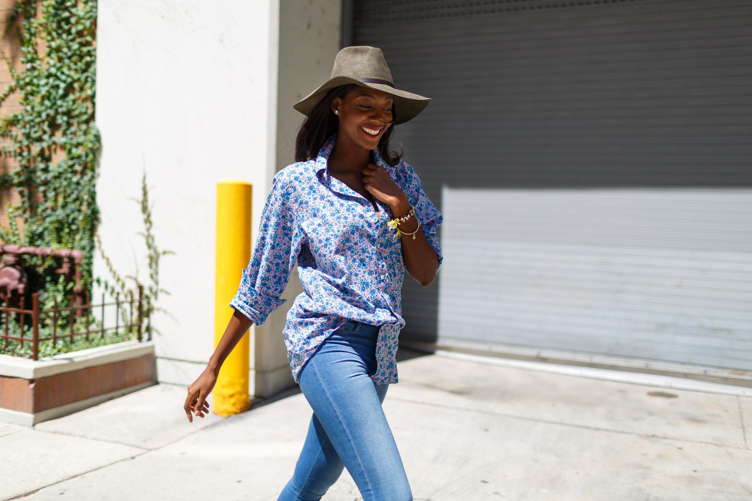 Afua Rida Styled By Rida Ghana Fashion Blogger African Blogger Polo Boyfriend shirt Louboutin top Shop Zara Hat Chicago Downtown Infrusture  Fashion Stylist African Blogger 1.jpg