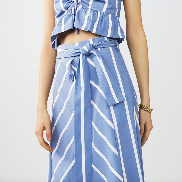 Maje striped A line skirt