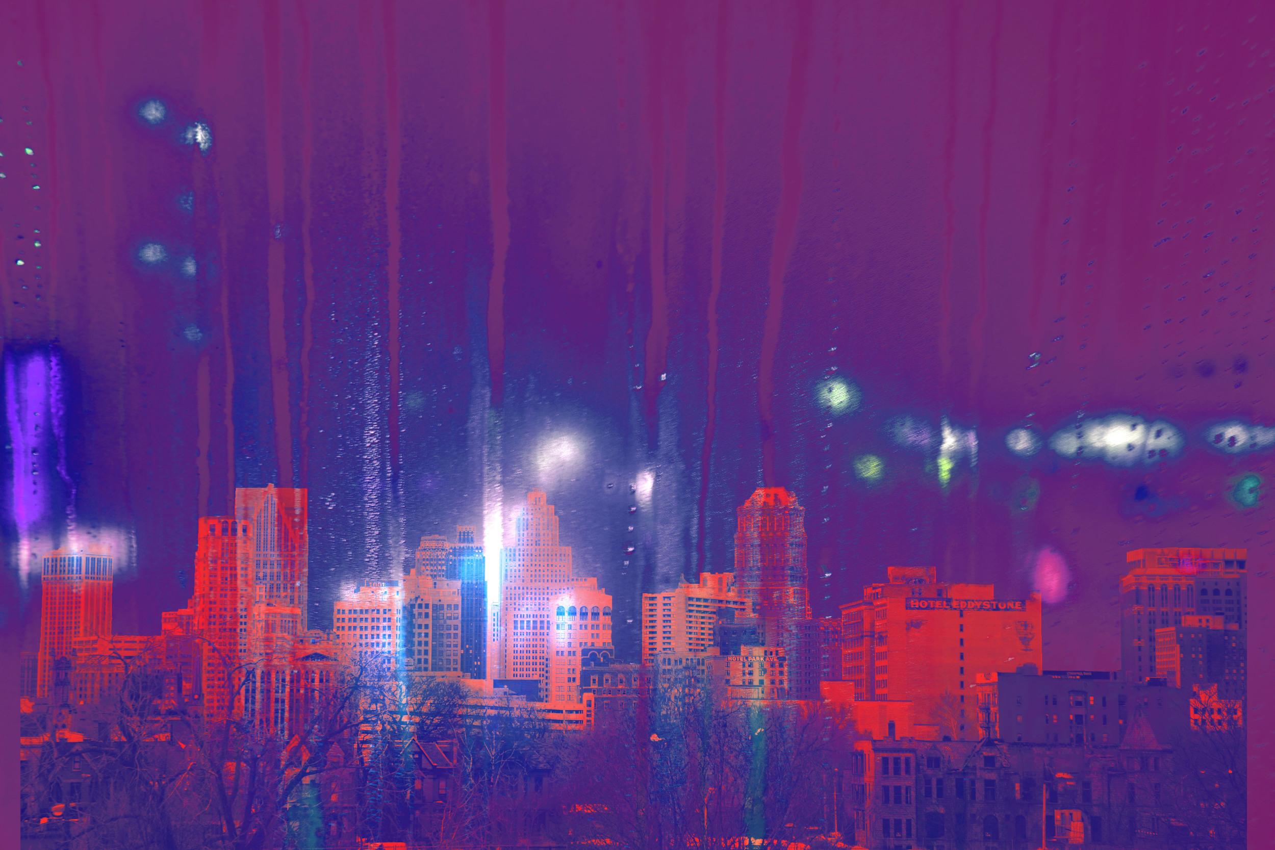 "© 2014   Megan LaCroix  ,  ""Purple Rain"""