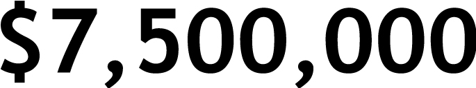 $7,500,000