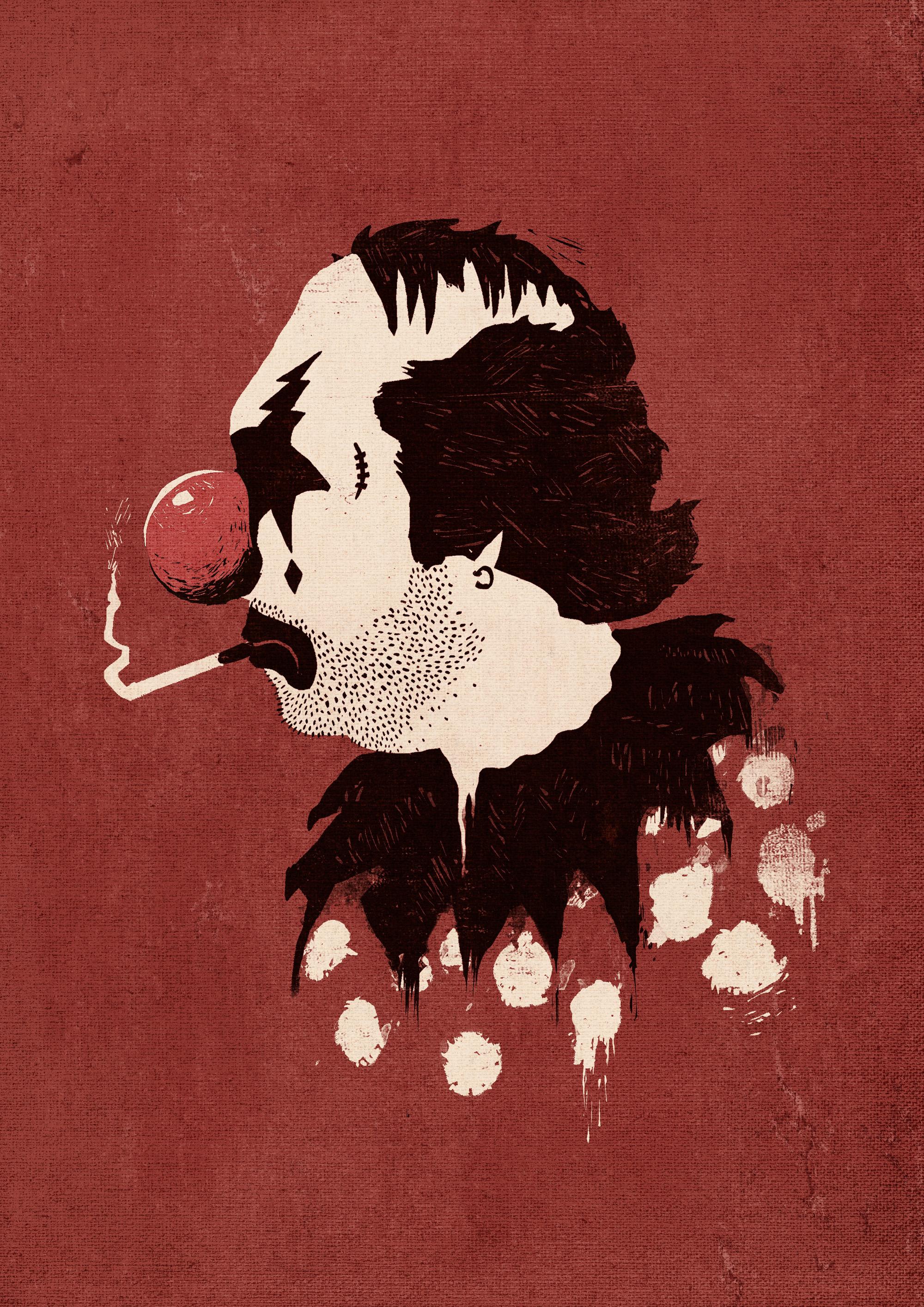 "© 2014   Ronan Lynam  ,  ""Clown Hates Carnival"""