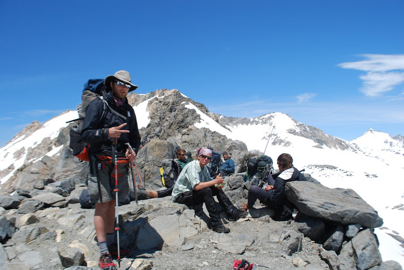 The very next morning we ascend to Glen pass and meet the first group since Whitney. We had met most of them before, and a reunion at 11,900 ft. altitude on a windy pass seemed fitting.