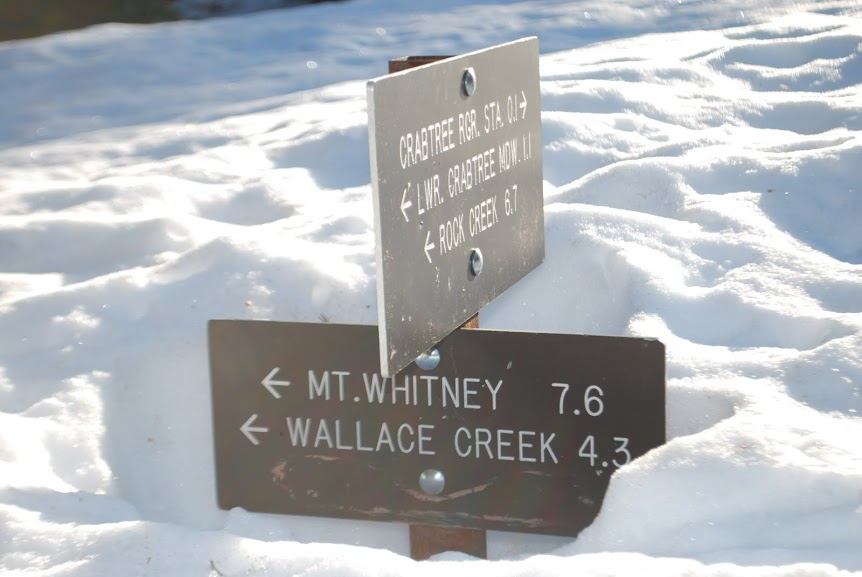 The spur trail to Mt. Whitney is an ominous sign of conditions ahead.