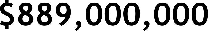 $889,000,000