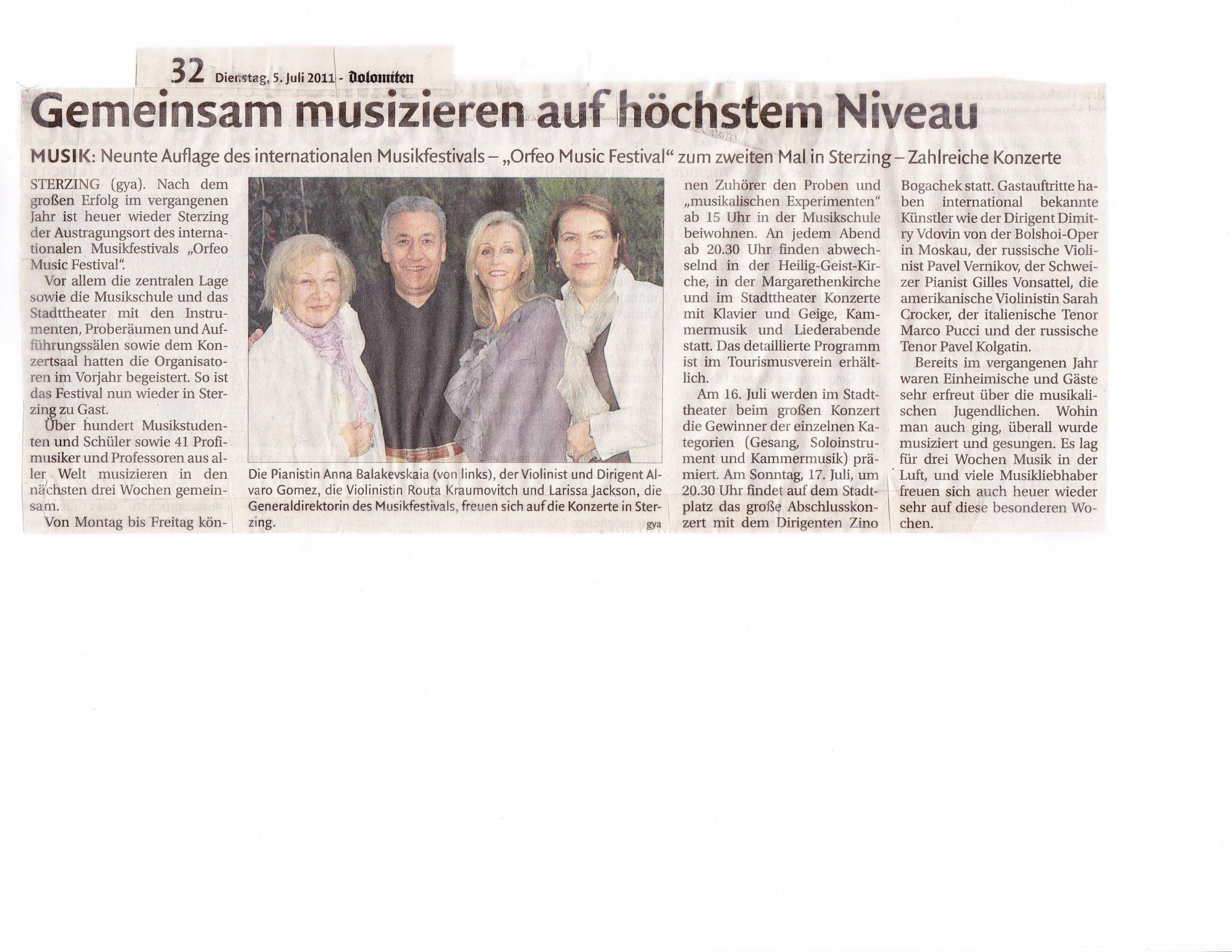2011 Dolomiten -Gemeindsam musizieren auf hoechstem Niveau.jpg