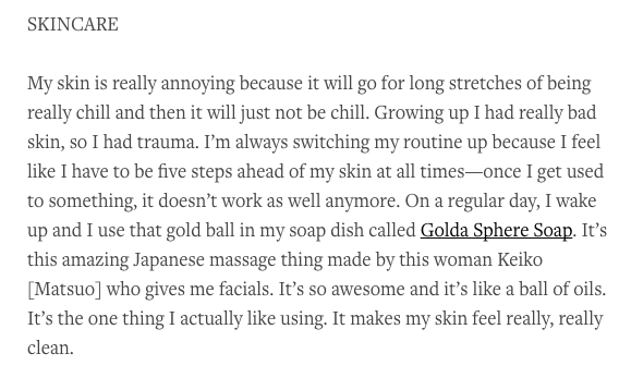 Aubrey Plaza speaks about GOLDA Sphere Soap - 2016