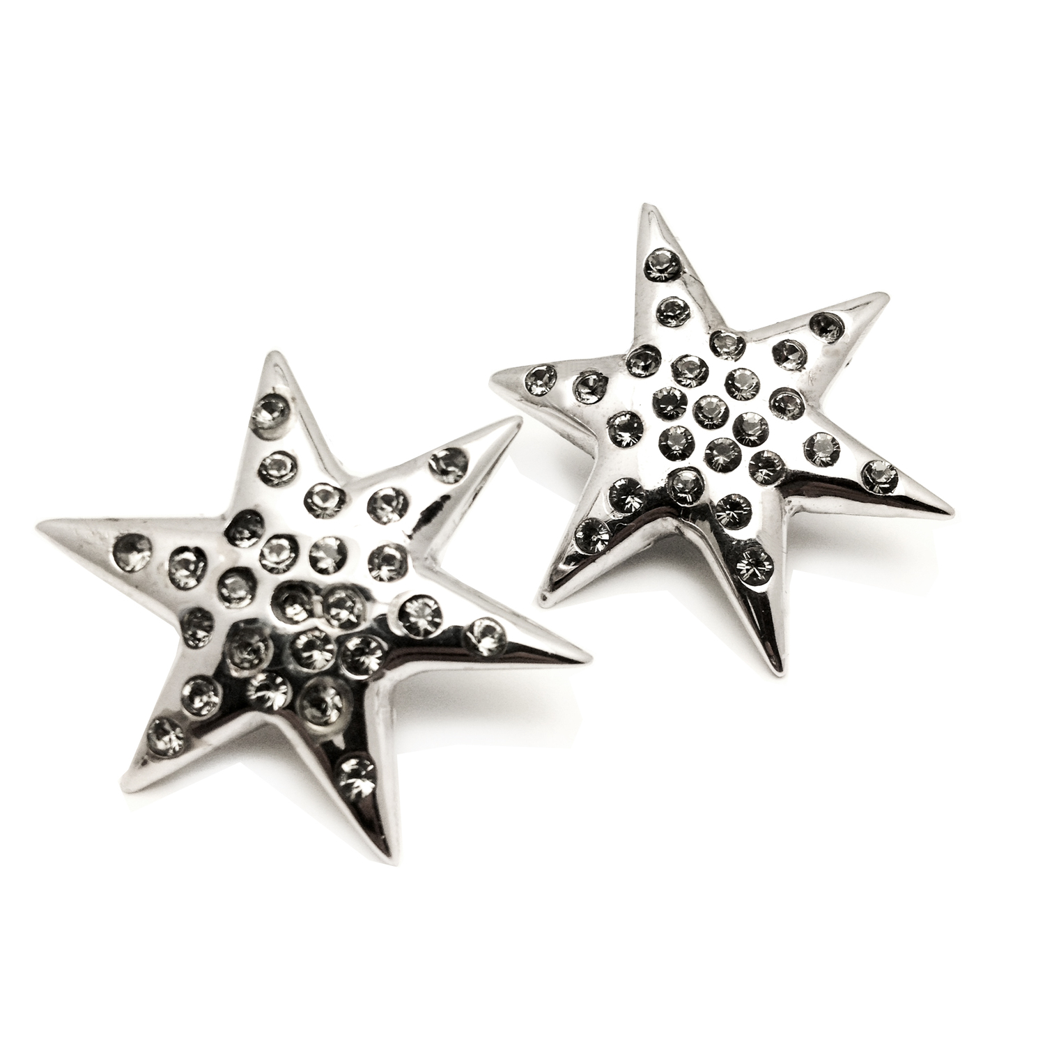 6 POINTED STAR PAVE' EARRINGS