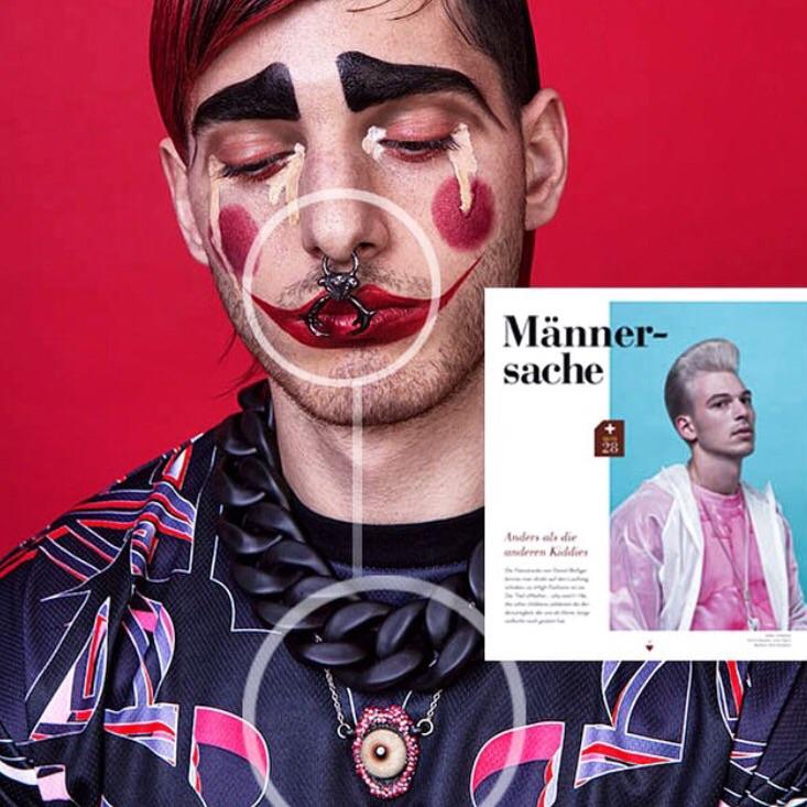 The Louis Horned Septum Cuff and Deep Throat Pavé Necklace featured in MANNSCHAFT Magazine.