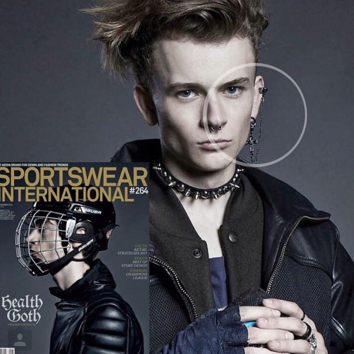 "The ""Don't Wanna Fall In Love"" earring/ ear cuff featured in SPORTSWEAR INTERNATIONAL Magazine"