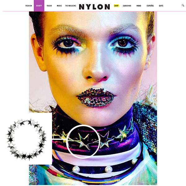 """Our collaboration with ZANA BAYNE for her Fall/Winter 2014 """"Moonbathers"""" Collection featured in NYLON Magazine's """"Galactic Power"""" Beauty story."""
