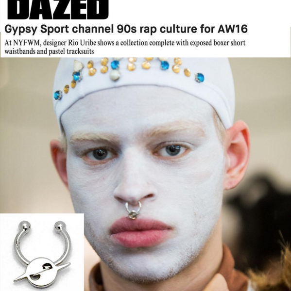 DAZED AND CONFUSED MAGAZINE  GYPSY SPORT FALL 2016 MENS SHOW COVERAGE  HATURN SEPTUM CUFF  FEBRUARY 2016