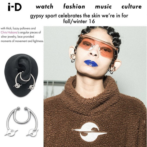 i-D MAGAZINE  GYPST SPORT FALL 16 SHOW COVERAGE  HATURN ORBIT EAR CUFF  MARCH 2016