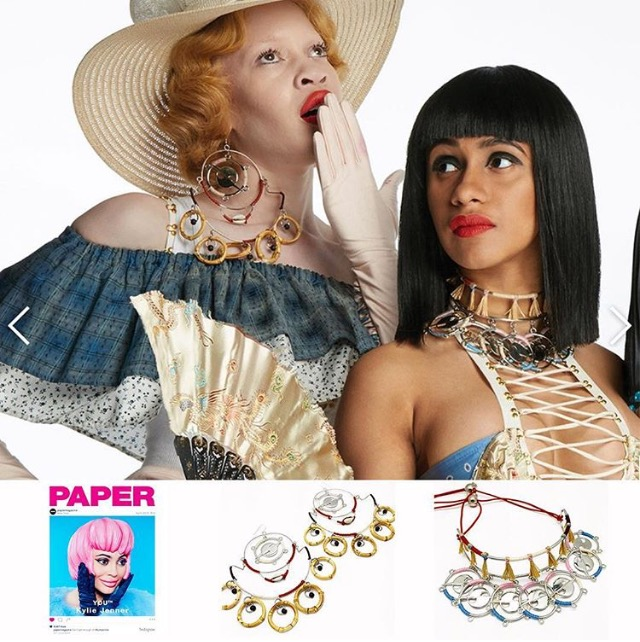 PAPER MAGAZINE  GYPSY SPORT ARTICLE AND SPREAD   FEATURING SPRING 2016 AND FALL 2015 COLLABORATION JEWELRY  STYLED BY LESTER GARCIA  MAY 2016 YOUTH ISSUE