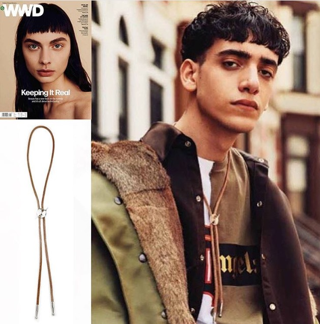 WWD  EDITORIAL FEATURING COLLABORATION  HATURN BOLO TIE  MARCH 2016