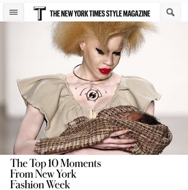 T MAGAZINE  NYFW 2016 COVERAGE  HATURN MOBILE STATEMENT CHOKER