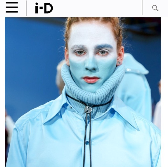 i-D MAGAZINE  GYPSY SPORT FALL 2016 MENS SHOW COVERAGE  HATURN BOLO TIE  FEBRUARY 2016