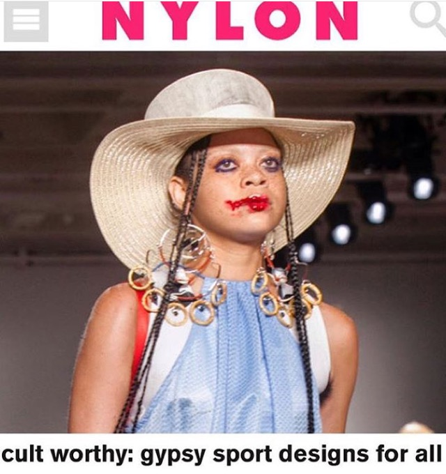 NYLON MAGAZINE  GYPSY SPORT SS '16 SHOW COVERAGE  HATURN MOBILE EARRINGS  SEPTEMBER 2015