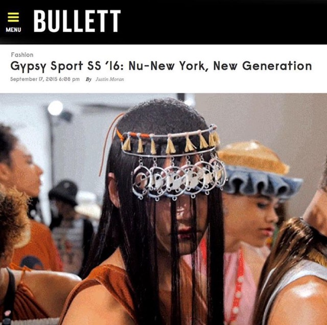BULLETT MAGAZINE  GYPSY SPORT SS'16 SHOW COVERAGE  HATURN SINGLE ORBIT HEADBAND  SEPTEMBER 2015