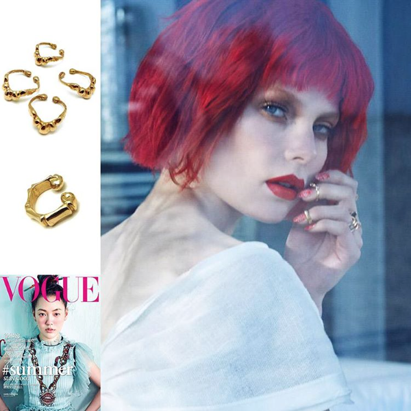 THE BAMBOO FINGERTIP RING featured in VOGUE TAIWAN