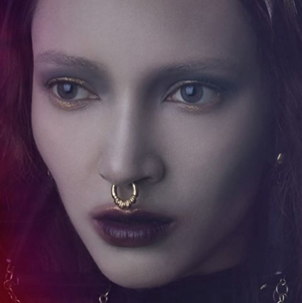 The ROUND THE WAY SEPTUM CUFF featured in HAUNTED MAGAZINE