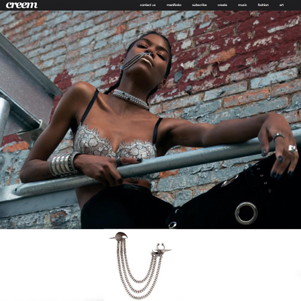 The HATURN SEPTUM CUFF/EARRING featured in CREEM MAGAZINE