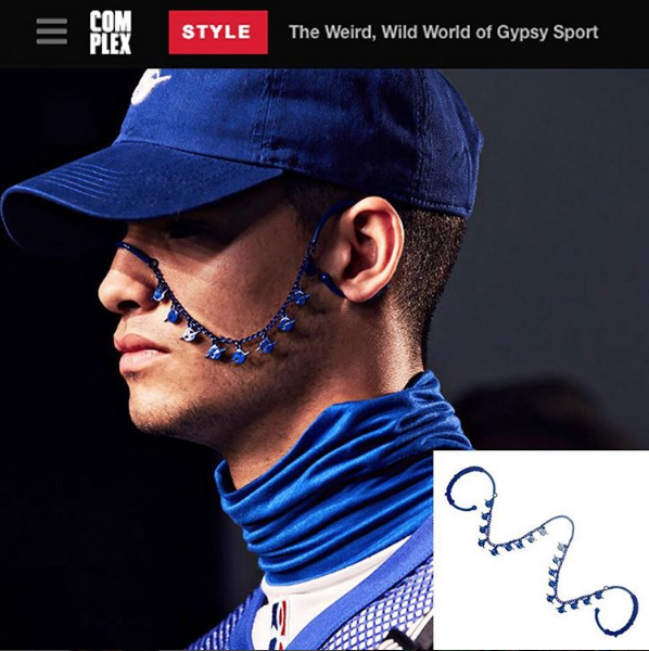 The MINI HATURN FACE PIECE featured in an article for COMPLEX MAGAZINE