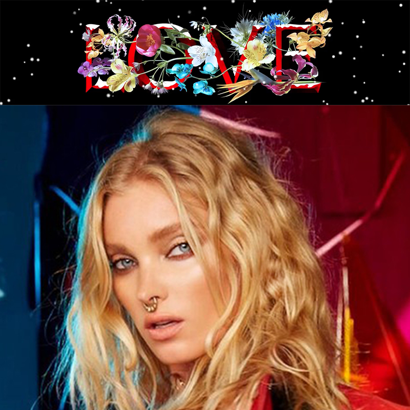 Model ELSA HOSK wears the ROUND THE WAY septum cuff in the 2016 LOVE MAGAZINE Advent Calendar visual.