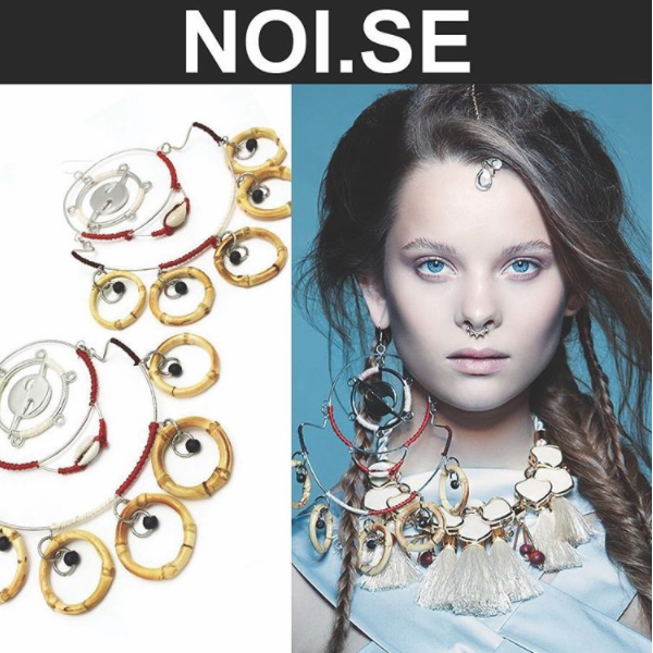 THE HATURN MOBILE EARRINGS featured in NOI.SE MAGAZINE