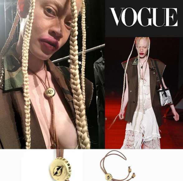 Chrishabana for Gypsy Sport BOLO TIE from VOGUE MAGAZINE