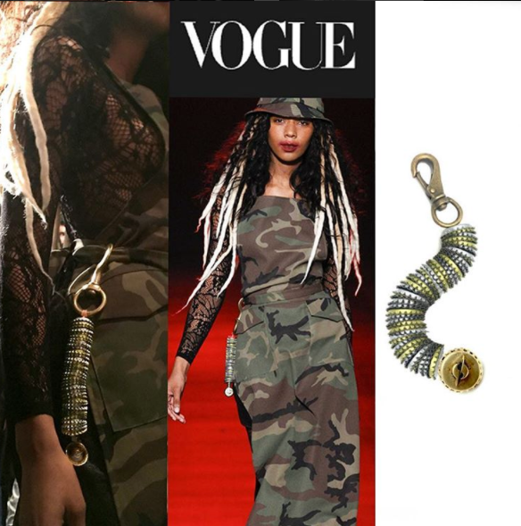 Chrishabana for Gyspy Sport HATURN RECYCLED BOTTLE CAP keychain from VOGUE MAGAZINE