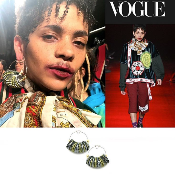 Chrishabana for Gypsy Sport THE RECYCLED BOTTLE CAP HOOP EARRINGS from VOGUE MAGAZINE