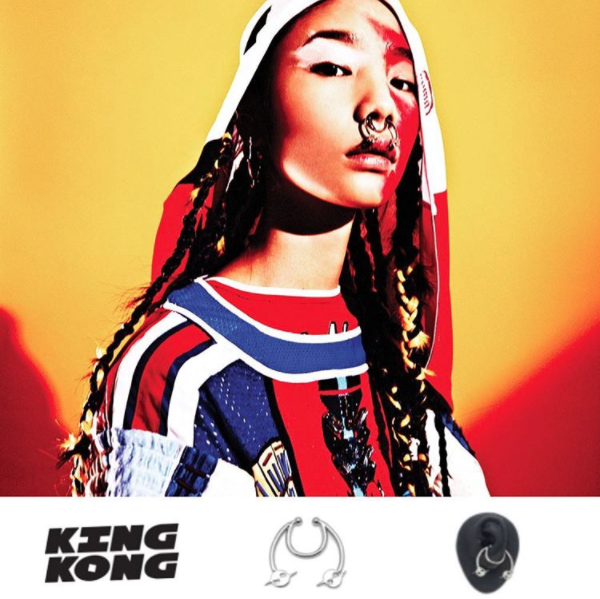 Chrishabana for Gypsy Sport MINI HATURN DOUBLE LEVEL CONCH/SEPTUM CUFF from KING KONG MAGAZINE