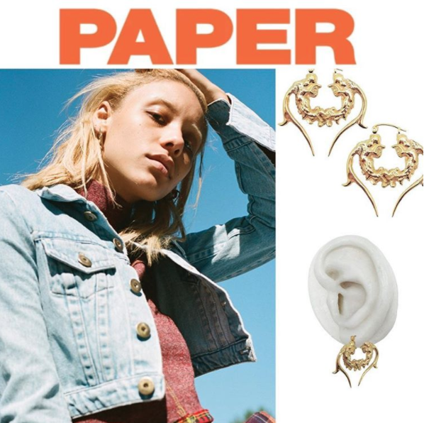 My enemy THE CORTISAN EARRINGS from PAPER MAGAZINE